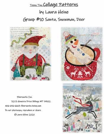 Teeny Tiny Group10 Santa, Snowman, Deer