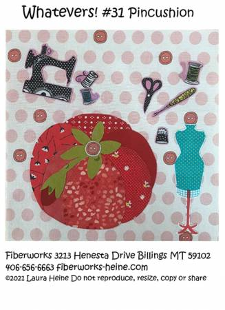 Whatevers #31 Pincushion Collage Pattern by Laura Heine
