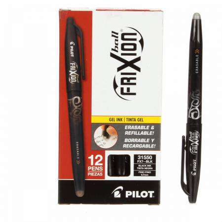 Frixion Pen Black Fine Point 0.7mm Heat Erase