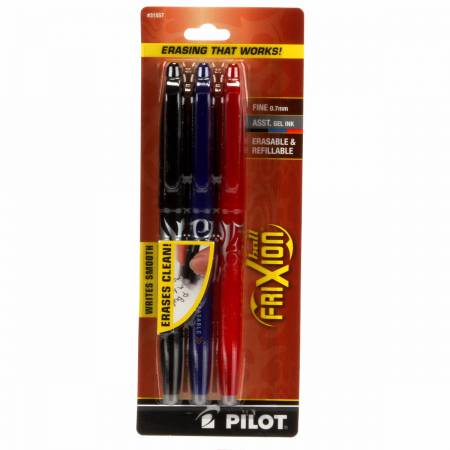 Frixion Gel Pens #3001 Black Blue Red