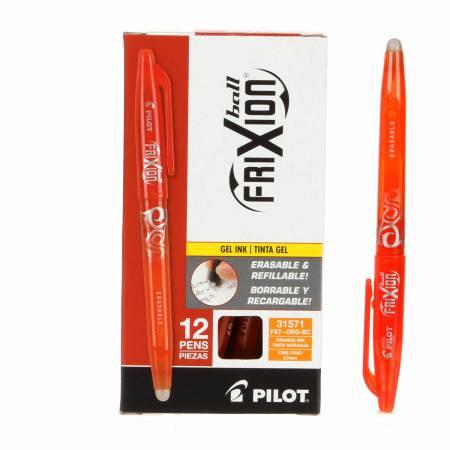 Frixion Pen Orange Fine Point 0.7mm Heat Erase