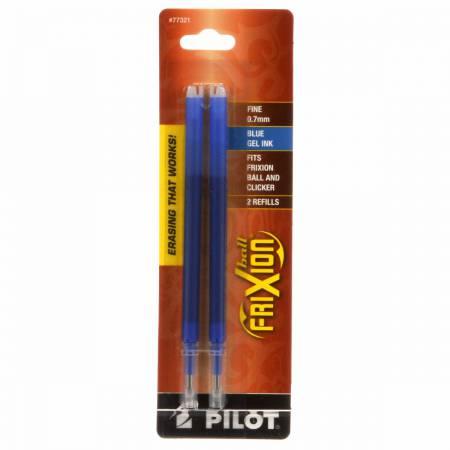 Frixion Clicker Pen Blue Fine Point 0.7mm Refill 2pk