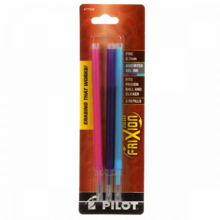 Frixion Clicker Pen Fine Point 0.7mm Refill  Assorted 3pk - FX7R3002