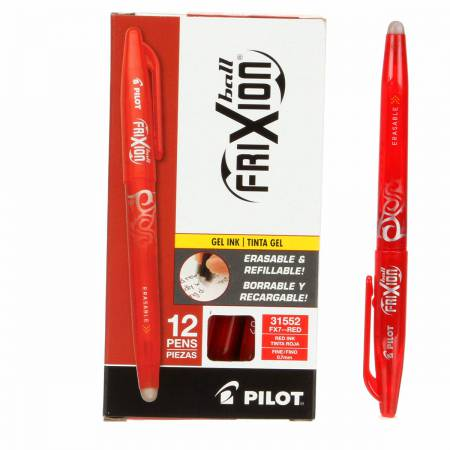 Notions - Frixion Pen Red Fine Point .7mm Heat Erase