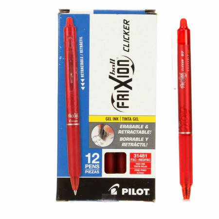 Frixion Clicker Pen Red Fine Point 0.7mm