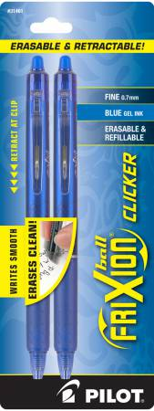 Frixion Clicker Pen Blue Fine Point 0.7mm 2pk - FXCC2BLUF