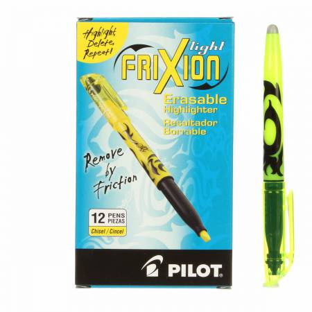 Frixion Highlighter Yellow Heat Erase