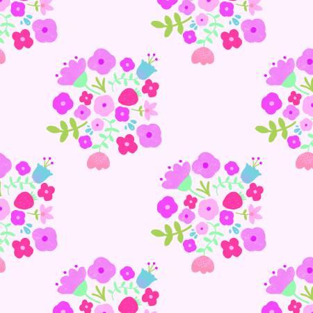 Hedgerow Bouquet Pink Double Gauze