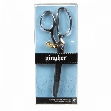 Gingher 8in Knife Edge Spring Action Dressmaker Shears