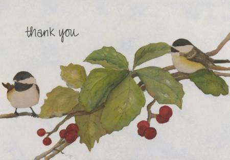 Note Cards Chickadees 10/ box
