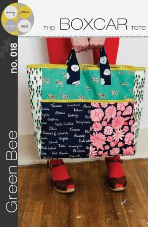 Boxcar Tote Pattern By Green Bee Sewing Patterns.
