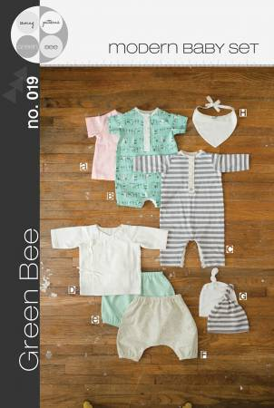 Modern Baby Set Layette Clothing Pattern by Green Bee