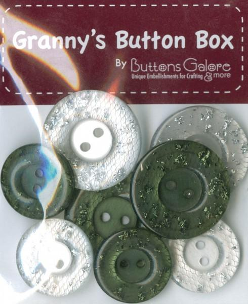 Grannys Button Box Buttons Salt and Pepper 8pcs