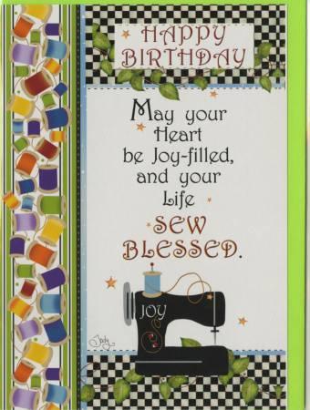 Happy Birthday Card -  Sewing Machine