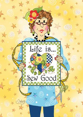 Life is Sew Good Greeting Card with Envelope 5in x 7in