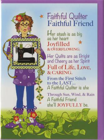 Greeting Card Faithful Quilter GC19