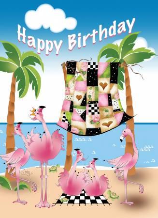 Flamingos Greeting Card GC25