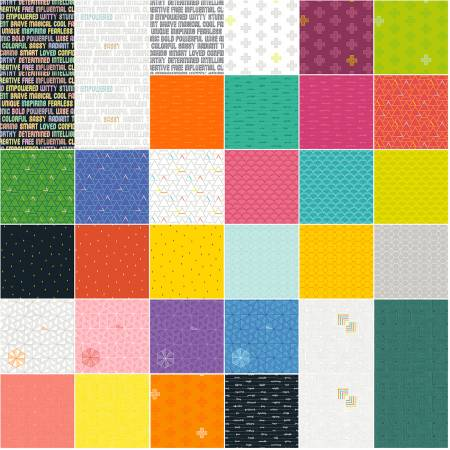 Fat Quarter Bundle Good Vibes Only Multi 32pcs