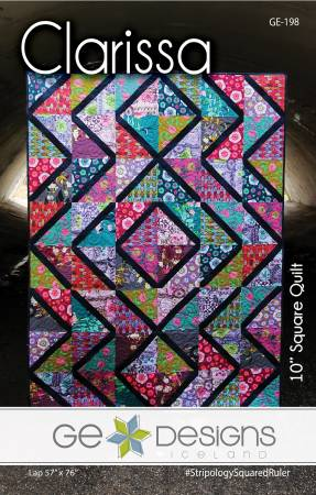 Clarissa pattern Stripology 10 Square Quilt