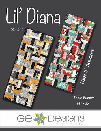 Lil Diana Table Runner Pattern - by GE Designs for Creative Grids