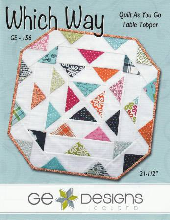 Which Way Quilt As You Go Table Topper by GE Designs