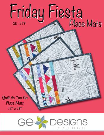 Friday Fiesta - Quilt as You Go Placemats - GE-179