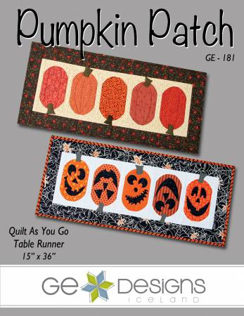 GE Designs Pumpkin Patch Table Runner Quilt As you Go Pattern
