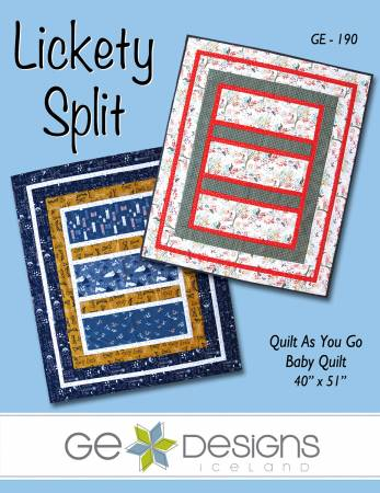 GE Designs Lickety Split Quilt As You Go Baby Quilt Pattern