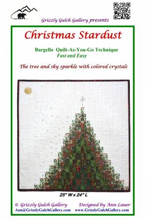 Christmas Stardust tree - quilt as you go