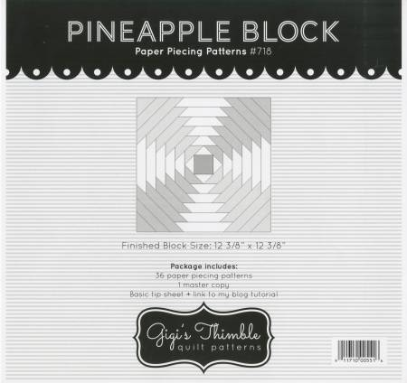 Pineapple Block Paper Piecing Patterns