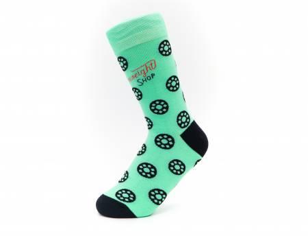 Quilt Socks - Jade-ite Green Bobbins