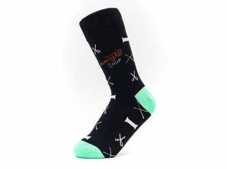 Quilt Socks - Black Notions