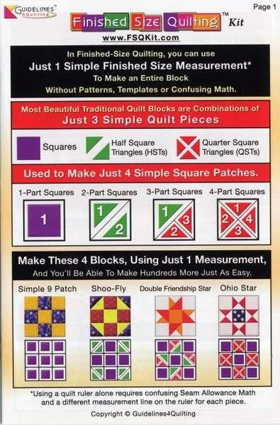 How To Use the Guidelines 4 Quilters Finished Size Quilting Kit