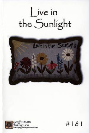 Live In the Sunlight Pillow Pattern