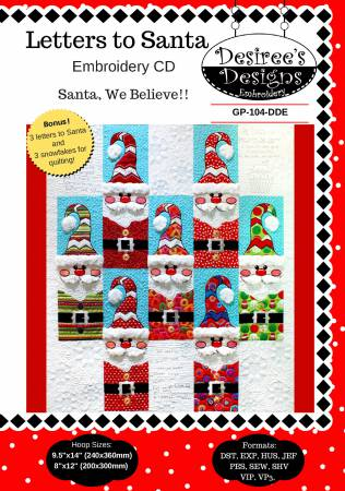 Desiree's Letters to Santa Embroidery CD