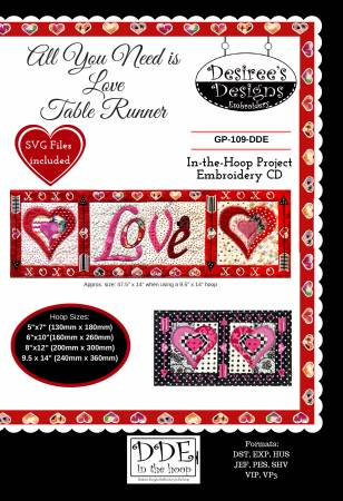 All You Need is Love Table Runner