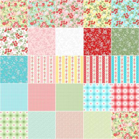 10in Squares Garden Party, 42pcs/bundle