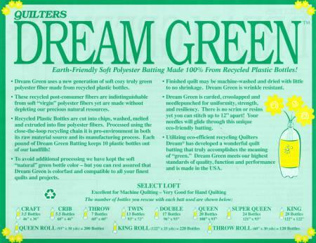 Quilters Dream Green Queen