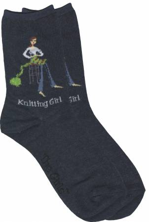 Gift Socks Knitting Girls Socks Denim
