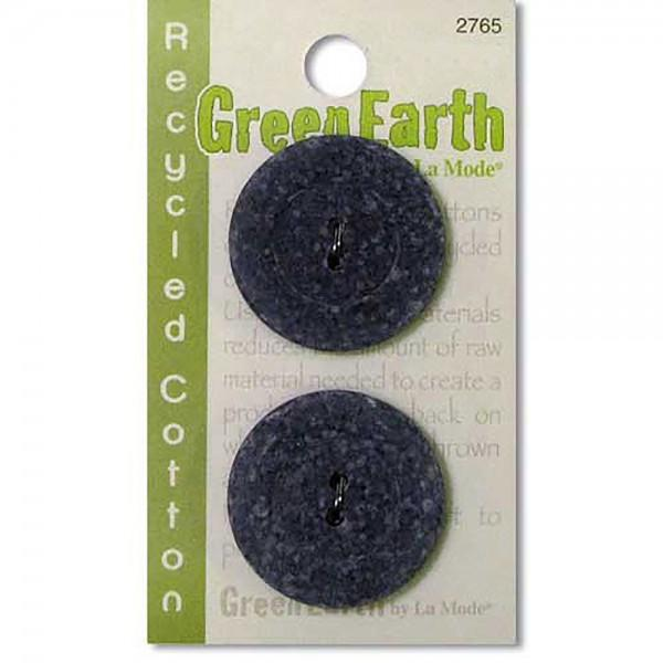 N- Buttons Green Earth Recycled Cotton Ecovelvet Gray