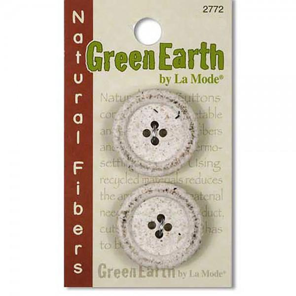N- Buttons Green Earth Natural Fibers Natural Bruse