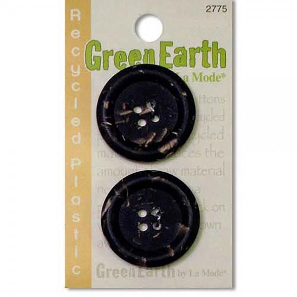 N- Buttons Green Earth Recycled Plastic Brown