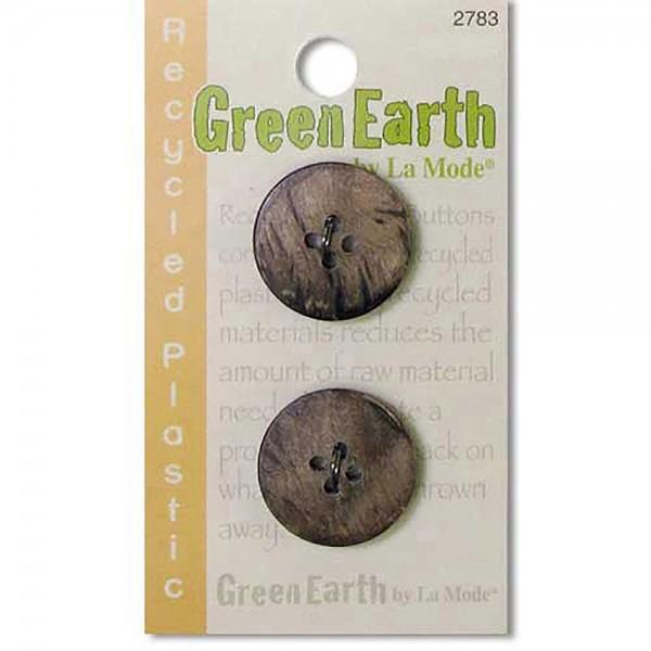 N- Buttons Green Earth Recycled Plastic Natural Fort Horn