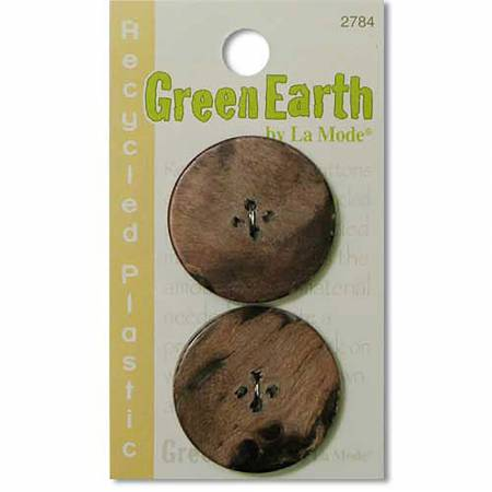 N- Buttons Green Earth Recycled Cotton Dark Rust