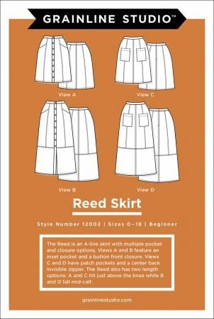 Reed Skirt Pattern, sizes 0-18