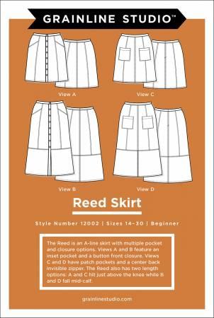 Reed Skirt Pattern, sizes 14-30