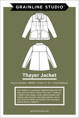 Thayer Jacket Pattern, sizes 0-18