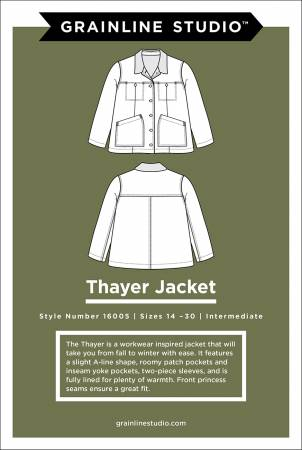 Thayer Jacket Pattern, sizes 14-30