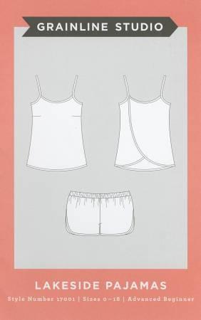 Lakeside Pajamas - Grainline Studio Printed Pattern