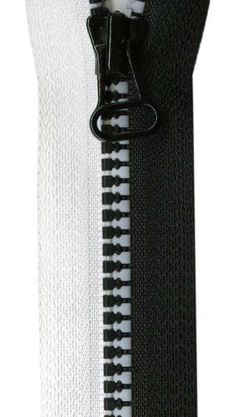 N- Ghee's 24 Black & White Separating Zipper
